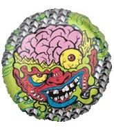 "18"" Mad Balls Bash Brain Mylar Balloon"