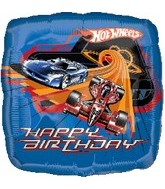 "18"" Hot Wheels Racing Happy Birthday ."