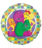 "18"" Barney & Friends Mylar Dinosaur Balloon"