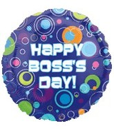 "18"" Boss&#39s Day Balloon  Polka Dots"