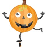 "28"" Dancing Pumpkin Shape Balloon"