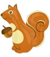 "31"" Jumbo Autumn Squirrel Balloon"