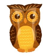 "18"" Fall Owl Mylar Balloon"