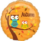 "18"" Autumn Owls Balloon"
