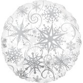 "18"" Clearly Metallic Snowflakes"