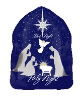 18&#39&#39 Nativity Scene Holy/Silent Night
