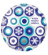 "18"" Happy Holidays Snowflakes"