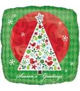 "18"" Season&#39s Greeting Tree Balloon"