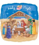 "18"" Holy Night Nativity Scene Balloon"