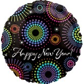 "18"" Decorate Happy New Years Balloon Black"