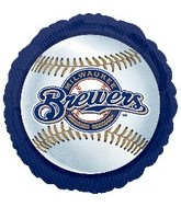 "18"" MLB Milwaukee Brewers Baseball"