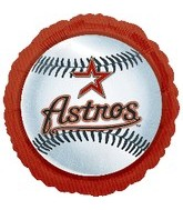 "18"" MLB Houston Astros Baseball Balloon"