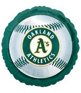 "18"" MLB Oakland Athletics Baseball"
