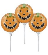 "9"" EZ Fill Airfill Halloween Pumpkin Sticks (3 Pack)"