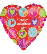 "31"" Happy Valentine&#39s Day Colorful Balloon"
