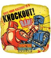 "18"" Rock &#39em Sock &#39em Birthday Knockout"