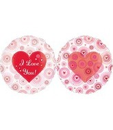 "25"" I Love You Hearts Satrburst Flowers"