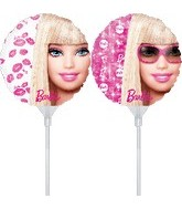"9"" EZ Fill Airfill Barbie with sticks (3 Pack)"