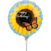 "9"" Aifill Only Happy Birthday Sunflower"