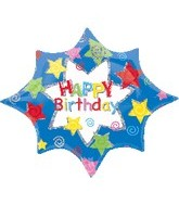 "32"" Happy Birthday Stars"