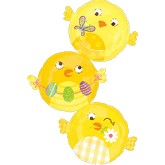 Three Chicky Stacker Jumbo Balloon