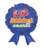 "30"" Best Assistant Award Balloon"