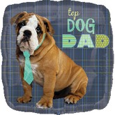 "18"" Top Dog Dad Balloon"
