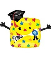 "29"" Gradution You Did It Yellow Square Balloon"