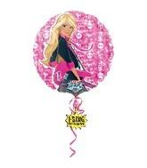 "28"" Sing-A-Tune Barbie Rocks Balloon"