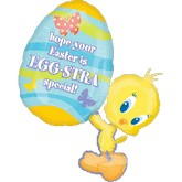 "33""  Tweety Egg-Stra Special Easter Balloon"