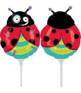 "9"" EZ Fill Airfill Ladybug With Sticks"