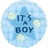 "18"" Its A Boy Blocks Mylar Balloon"