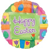 "18"" Easter Patchwork Balloon"