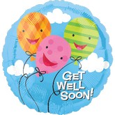 "18"" Get Well Soon Balloons Mylar Balloon"