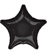 "32"" Large Balloon Black Star"