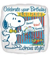 "18"" Snoopy Peanuts B-Day Circus Balloon"