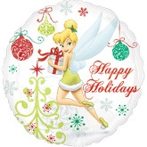 "18"" Tinkerbell Happy Holidays Balloon"