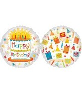 "26"" See Thru Happy Birthday Balloons"