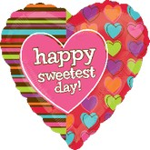 "18"" Sweetest Day Stripes & Hearts"