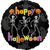 "18"" Happy Halloween Dancing Skeletons"