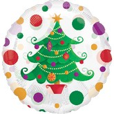 "18"" See-Thru Holiday Tree Balloon"