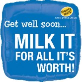 "18"" Smarty Pants�: Milk It - Get Well Mylar Balloon"
