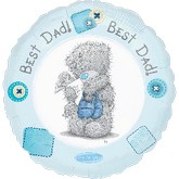 "18"" Best Dad Bear Dad Stuff"