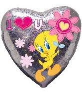 "18"" Looney Tunes Tweety Love You Flower"