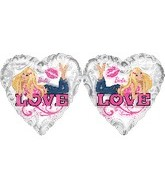 "18"" Barbie Clearly Love Heart Balloon"