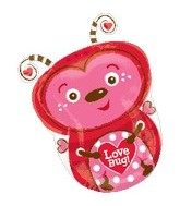 "18"" See Through Love Bug Shape Balloon"