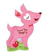 "36"" Love You Dearly Balloon with Bird"