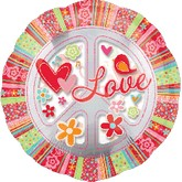 "32"" SuperShape Love & Peace Sign"