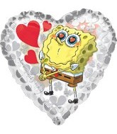 "18"" SpongeBob Clearly Love Mylar Balloon"