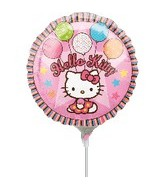 "9"" Mini Balloon (Airfill Only) Hello Kitty Balloons"